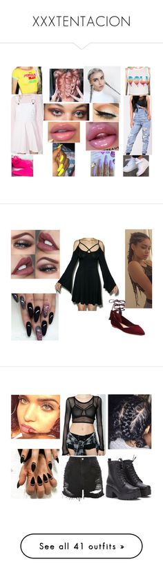 """""""XXXTENTACION"""" by karmencousar ❤ liked on Polyvore featuring Marc Jacobs, Macaron Hombeth, NIKE, This Is a Love Song, Killstar, Loeffler Randall, Tripp, Topshop, Frasier Sterling and Forever 21"""