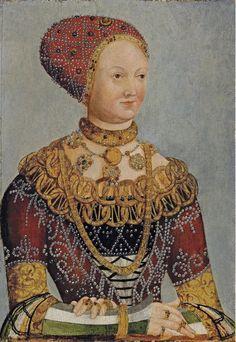 Hans Krell (before 1586). 16th C:  Early German-Saxon (Cranach) Gown