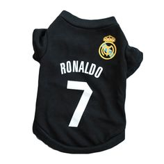 2018 New arrival Winter cotton Pet dog Clothes Spring summer puppy pet dog t-shirt for small dog black No. Football Ronaldo, Dog Football, Summer Vest, Summer Dog, Spring Summer, Sport Casual, Sport Style, Puppy Clothes, Sport Fashion