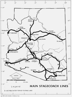 Arizona Stagecoach lines- Date Unknown