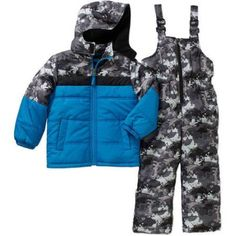 iXtreme Little Boys 2 Piece Snow Jacket and Bib Set, Available in 2 Designs 5 colors, Boy's, Size: 6, Blue