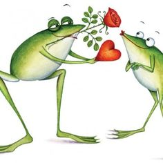 Valentine frog by Clare Mackie Funny Frogs, Cute Frogs, Frog Illustration, Character Illustration, Frog Pictures, Cute Pictures, Frog Rock, Frog Drawing, Frog Art