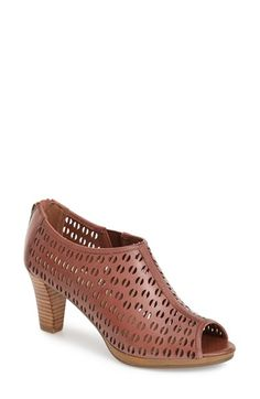 BELLA+VITA+'Lake'+Perforated+Leather+Bootie+(Women)+available+at+#Nordstrom