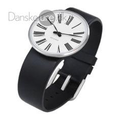Arne Jacobsen armbåndsur - Sort/Hvid Roman - Rosendahl Ure