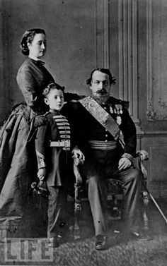 Emperor Napoleon III and his family
