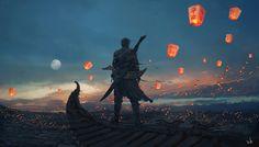 Sky Lanterns by wlop.deviantart.com on @deviantART #ContesDefaits #Solal