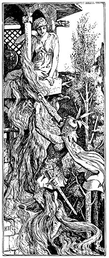 Rapunzel - The Red Fairy Book by Andrew Lang, 1890