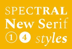 Production Type — Spectral, a new typeface for Google Fonts