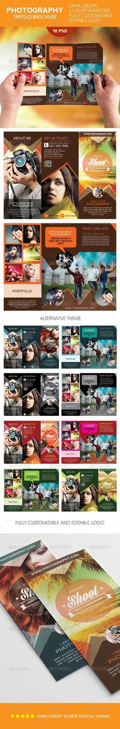 Simple Photography Trifold Brochure Template  #GraphicRiver