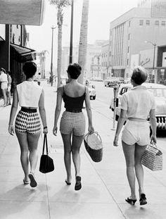 ladies in hotpants