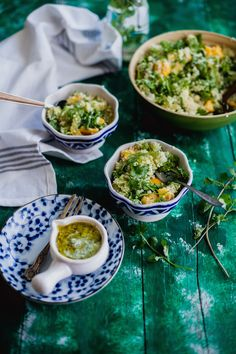 Fruity Couscous Salad With Tomatillo Sauce is a quick a easy summer salad filled with fruits and a tangy refreshing sauce to blend it all together. Couscous Recipes, Couscous Salad, Salad Recipes, Side Recipes, Real Food Recipes, Vegetarian Recipes, Cooking Recipes, Tomatillo Recipes, Tomatillo Sauce