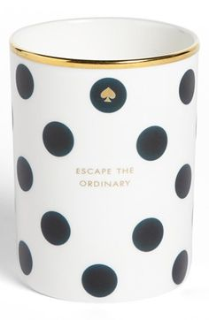 kate spade new york 'escape the ordinary' scented candle available at #Nordstrom