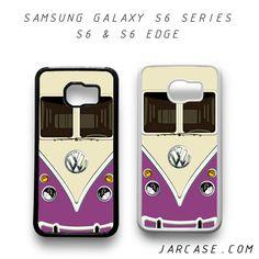 eed14d6889 purple vw retro bus Phone case for samsung galaxy S6   S6 EDGE