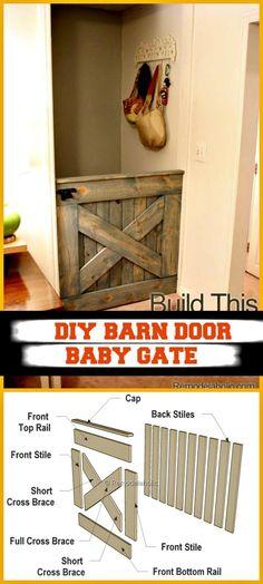 How To Make A 25 Barn Door Baby Gate Pinterest Barn Door Baby