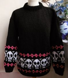 ffac82d306ce PW Skulls hand knitted skulls jumper ready for you now  bexknitwear.com  Skull Hand