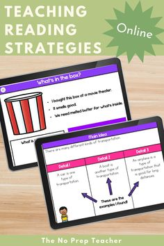 Teaching reading comprehension strategies to your kindergarten, first grade, or second grade students? Check out these ready to go digital lessons to teach important reading strategies! Just assign through google classroom or use during hybrid instruction. Digital lessons to teach main idea, visualizing, making inferences, asking and answering questions, and point of view. Students will find it easy to work independently with these awesome, fun lessons.