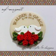 polymer clay ref-magnet wedding souvenir #mavicrafts