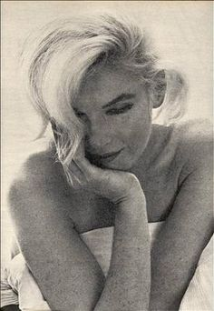 Marilyn Monroe!  More casual than her usual pics