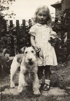 simply-canine: Mom and Benjy, 1940 (by cmrowell) // Wire Fox Terrier