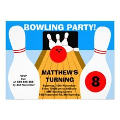 Bowling Birthday Party Invitation today price drop and special promotion. Get The best buyHow toOnline Secure Check out Quick and Easy. Bowling Birthday Invitations, Online Invitations, Special Promotion, Invitation Design, Birthday Parties, Birthday Ideas, Rsvp, Announcement