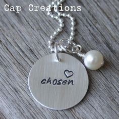 """Necklace offered by Cap Creations signifying a """"Chosen Child"""".proceeds go to help the adoption of a child. Can also apply for receiving proceeds from sales. For my one-day adopted child Adoption Gifts, Adoption Day, Adoption Books, Adoption Stories, Foster Care Adoption, Foster To Adopt, Christian Jewelry, Christian Gifts, Private Adoption"""