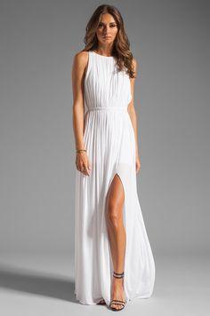 sen Flaviana Dress in White - Simple long white flowy maxi dress...