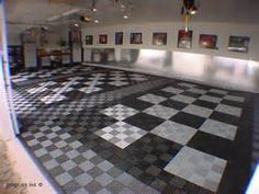 Tech Floor. Would be awesome in black and white for the garage or in ...