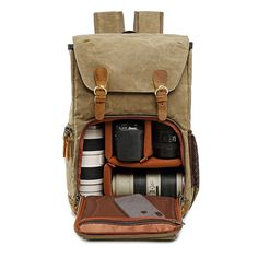 Buy Batik Canvas Waterproof Photography Bag Outdoor Wear-resistant Large Camera Photo Backpack Men for Nikon/Canon/ Sony/Fujifilm Camera Backpack Travel, Photo Backpack, Men's Backpack, Camera Bags, Camera Gear, Dslr Cameras, Travel Luggage, Luggage Bags, Travel Bag