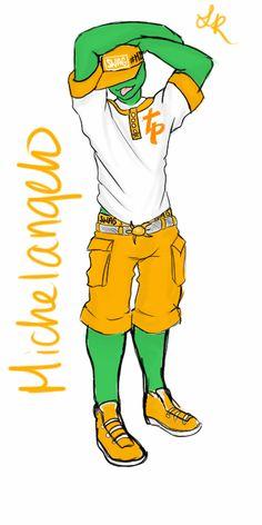 TP Swag Mikey by LilCinnamonRollMama on DeviantArt Tenage Mutant Ninja Turtles, Teenage Ninja Turtles, Ninja Turtles Art, Teenage Mutant Ninja, Tmnt Comics, Tmnt Swag, Mikey, Cartoon Games, Funny Cute