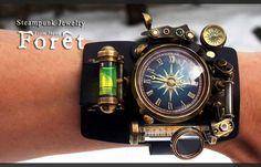 Arma Steampunk, Steampunk Weapons, Steampunk Gadgets, Steampunk Costume, Big Watches, Luxury Watches, Cool Watches, Watches For Men, Mens Watches Leather