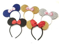 Items similar to Classic Mickey Mouse ears headbands Sequin plush party favors costume Minnie Mouse Headband, Diy Disney Ears, Disney Headbands, Mickey Mouse Ears Headband, Minnie Mouse Pink, Ear Headbands, Minnie Mouse Party, Mickey Ears, Minnie Maus Ballons