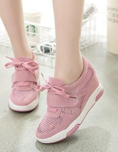79fd4f434ef8d7 pembe file detaylı gizli topuk ayakkabı sk23419 Comfy Shoes