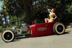 Oh hells yeah… my kinda roadster!!! #rat rod #hot rod #roadster
