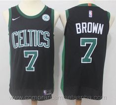 NBA nike negro Jaylen Brown Boston Celtics Version jugador Marca  nike  Equipos  Boston Celtics Jugador  Jaylen Brown Adecuado para  Hombre Estilo   camisetas ... aec551e6768