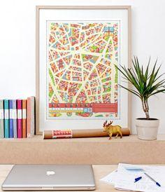 La Latina Madrid Map – BEAUTY!