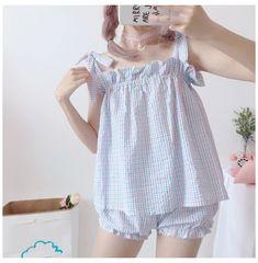 Cute Sleepwear, Girls Sleepwear, Loungewear, Cute Pajamas, Girls Pajamas, Pajamas Women, Baby Girl Dress Patterns, Night Dress For Women, Lolita