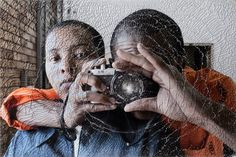 Mikhael Subotzky, Maplank and Naomi, Pollsmoor Maximum Security Prison, 2004 Courtesy Goodman Gallery, Johannesburg Beaufort West, Photo Store, African Countries, Magnum Photos, Double Exposure, White Man, Prints For Sale, Artist At Work, Looking Back