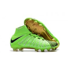 buy popular 81307 3f23b Cheap Nike Hypervenom Phantom III DF FG EA Sports Mens Soccer Cleats Green  Black