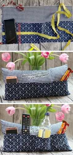 Creative DIY sofa pillow with individual pockets. Gift idea for Father's Day / . - Creative DIY sofa pillow with individual pockets. Gift idea for Father's Day / Mother's Day, as - Diy Gifts For Friends, Diy Gifts For Kids, Easy Diy Gifts, Diy Sofa, Cushions On Sofa, Crafts For Teens To Make, Diy And Crafts, Diy Birthday, Birthday Gifts