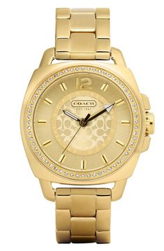 COACH 'Boyfriend' Crystal Detail Bracelet Watch available at #Nordstrom