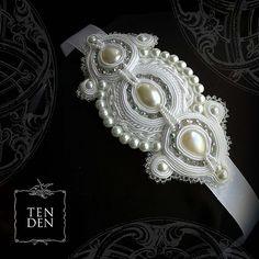 tenden / Claire  soutache bridal jewelry