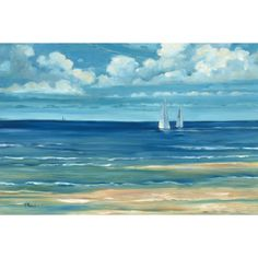 You'll love the Summerset Sailboat by Paul Brent Painting Print on Wrapped Canvas at Wayfair - Great Deals on all Décor  products with Free Shipping on most stuff, even the big stuff.