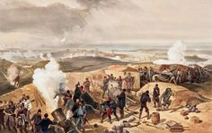A hot day in the battery, Crimean War