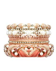 New Look Plaited Pearl Friendship Bracelet