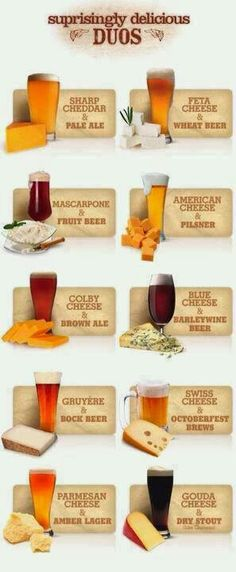 Cerveza y queso. Dúos sorprendentemente deliciosos. #cheese #beer #pairing