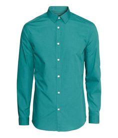 Easy-iron Shirt in Teal | H&M US
