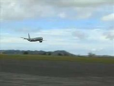 A Boeing 757 pilot puts on an impressive high speed low pass for spectators followed by a fast climb.
