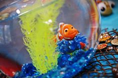 Finding Nemo fish bowl centerpiece