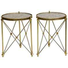 Pair of Italian Neoclassical Style Gueridons | See more antique and modern Gueridon at http://www.1stdibs.com/furniture/tables/gueridon