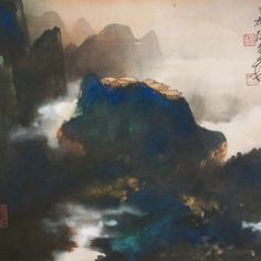 Tâches d'encre et de couleur d'un maitre chinois #zhang #daqian #chines…